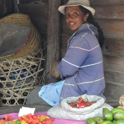 While learning French in Madagascar, students also explore places like markets and chat to local vendors to boost their skills.